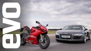 getlinkyoutube.com-Audi R8 V10 v Ducati 1199 Panigale R | evo BATTLE