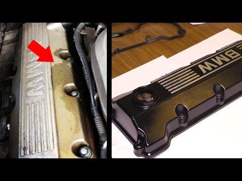 Замена прокладки крышки ГБЦ двигателя BMW м43 и покраска.Replacing cover gasket cylinder head BMW