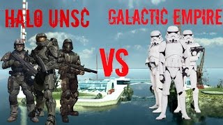 getlinkyoutube.com-Garry's Mod NPC Wars: Halo UNSC vs Star Wars The Galactic Empire