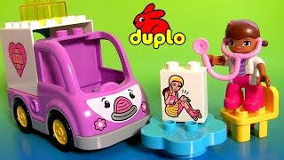 getlinkyoutube.com-DOC MCSTUFFINS Lego Duplo 10605 Rosie the Ambulance Doctor Car Disney Baby Toys by DisneyCollector