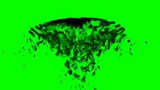 surfaces crack / debris - green screen effect