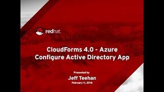 Configure Azure Active Directory Application