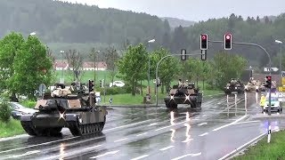 getlinkyoutube.com-U.S. Tanks & Howitzers Passing Through German Town