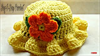 CROCHET How To #Crochet Baby Crochet Toddler Springtime Hat #TUTORIAL #220 LEARN CROCHET