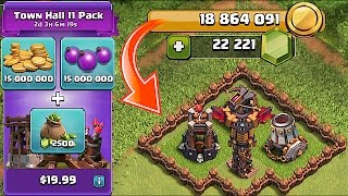getlinkyoutube.com-IS THIS POSSIBLE!?! NEW UPDATE!! 160$ GEM SPREE  TOWN HALL 11 PACK!!  (18 million in clash of clans)