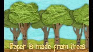 getlinkyoutube.com-Educational video for kids: How Paper  Is Made
