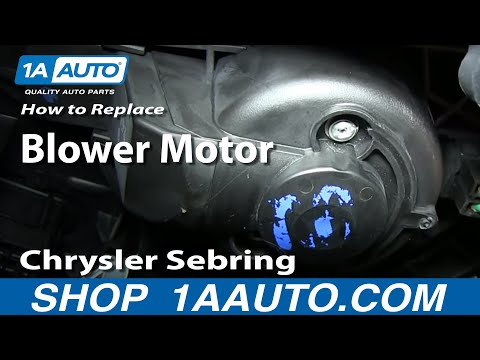 How to Replace Heater Blower Motor with Fan Cage 01-06 Chrysler Sebring