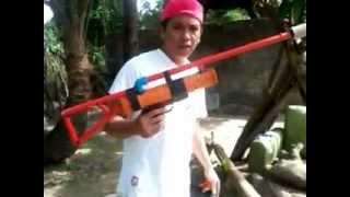 Shooting of my alcohol powered gun...
