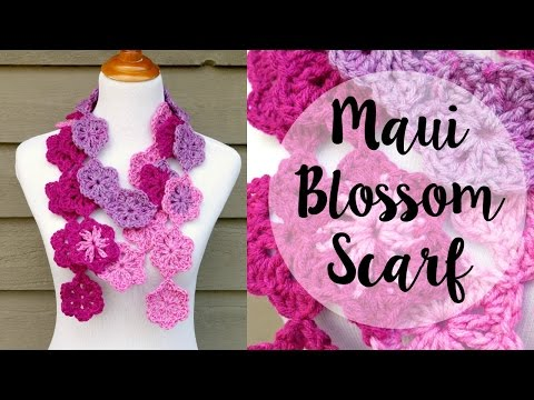 How To Crochet the Maui Blossom Scarf, Episode 411