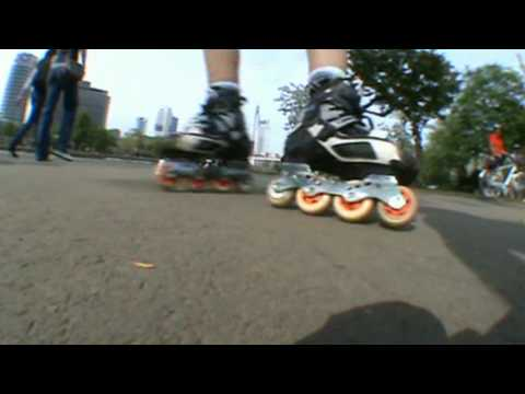 Inline -Freestyle Slalom Skating - Inlineskaten on a Lazy sunday Mainskater Frankfurt