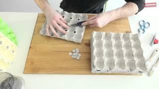 Jak zrobić lampę z wytłoczek po jajkach?