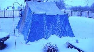 getlinkyoutube.com-Winter Camping in a Hot Tent