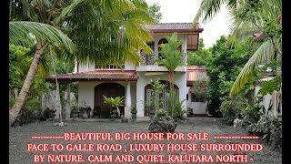 getlinkyoutube.com-HOUSE FOR SALE IN Kalutara  -  Sri Lanka.  ( BEAUTIFUL BIG HOUSE )