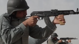Afghan Uniformed Police Training With AMD-65 Assault Rifle