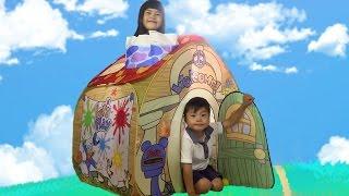 getlinkyoutube.com-ディズニーおもちゃ ミッキーおうち ボールハウス 遊びと知育の おうち トゥーンタウン おままごと Disney Toontown  Ball House