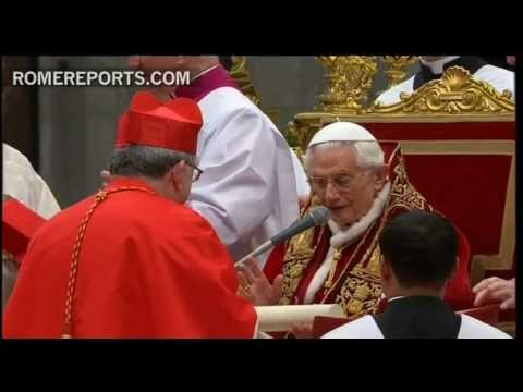 Benedict XVI welcomes 22 new cardinals