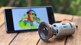 How to Make a Speaker at Home - Using DC Motor width=