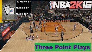getlinkyoutube.com-NBA 2K16 Three Point Plays 98 Jazz Playbook