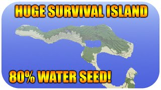 getlinkyoutube.com-★Minecraft Xbox 360 + PS3 HUGE Survival Island Seed At Spawn - 80 Percent Water Seed Showcase★
