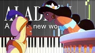 "getlinkyoutube.com-ホール・ニュー・ワールド/映画『アラジン』より(ピアノソロ上級)【楽譜あり】 ""Aladdin"" - A Whole New World"