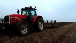 getlinkyoutube.com-Massey Ferguson 8160 + Eberhardt D753-180 Orka 2015 / Ploughing 2015