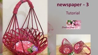 getlinkyoutube.com-Basket from newspaper 3 - Tutorial edit