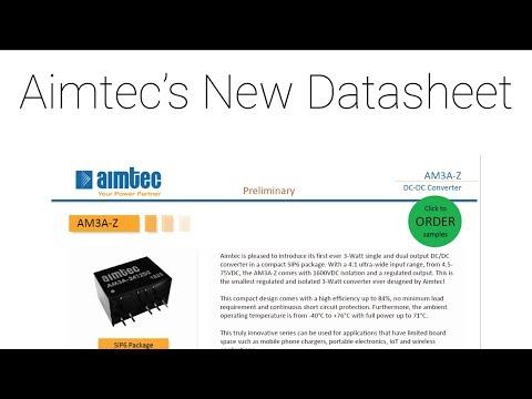 Training for Aimtec's New Datasheet