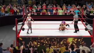 getlinkyoutube.com-WWE 2K17 Raw Emma and Lana vs Carmella and Liv Morgan