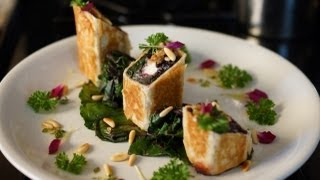 getlinkyoutube.com-Forbidden Rice, Beet Greens & Goat Cheese Strudel - Bruno Albouze - THE REAL DEAL