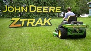 "getlinkyoutube.com-John Deere 757 ZTRAK Mowing Deep Grass 60"" 7 Iron Deck Zero Turn Mower"