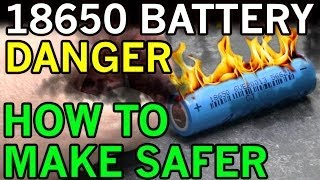 getlinkyoutube.com-Electric Dangers with Lithium Ion 18650 - Battery Fires Exposed and DIY Solution