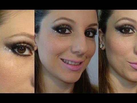 Maquiagem Ano Novo (Make cinza com dourado)