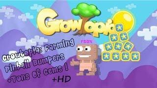 getlinkyoutube.com-Growtopia: Farming Pinball Bumpers +Tons Of Gems !