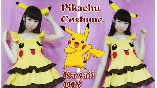 getlinkyoutube.com-DIY - Pokemon Pikachu Dress/Costume | Part 2