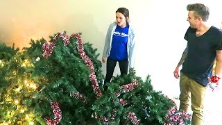 DESTROYED THE CHRISTMAS TREE!!