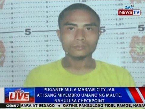 Pugante mula Marawi City Jail at 1 miyembro umano ng Maute, nahuli sa checkpoint sa Iligan City
