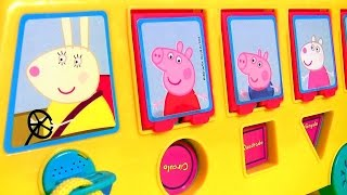 getlinkyoutube.com-Play Doh Peppa Pig School Bus Pop-up Surprise - Ônibus Escolar Levando Pig George pra Escola