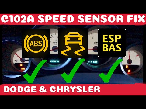 How To Fix Dodge/Chrysler ABS, Traction and ESP BAS Fix Wheel Speed Sensor DIY