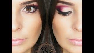 getlinkyoutube.com-Maquiagem Vinho com Cut Crease por Nana Nunes