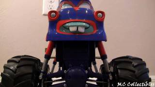 getlinkyoutube.com-Talking TORMENTOR Monster Truck Mater Disney Cars Toon Mater's Tall tales Toy review Blucollection