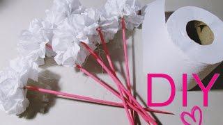 getlinkyoutube.com-DIY/Faça você mesma : Flor feita com papel higiênico | Dica de decoração