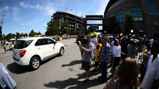 Jackie Robinson West Parade  stop at U.S. Cellular Field