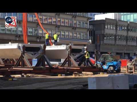 Construction of the Moreelsebrug in Utrecht (NL)
