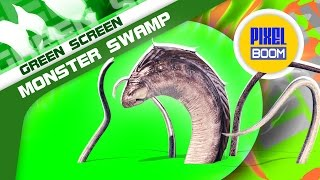 getlinkyoutube.com-Green Screen Monster of the Swamp Tentacles - Footage PixelBoom