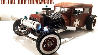 getlinkyoutube.com-RC CAR - RAT ROD RWD HOMEMADE 1/10 [PART 4/5] Radiator Paint Pipes & Lights