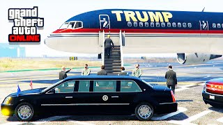 getlinkyoutube.com-GTA 5 LSPDFR Online - President Escort With Mods (Donald Trump's Plane)