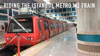 getlinkyoutube.com-Riding the Istanbul Metro M2 Train