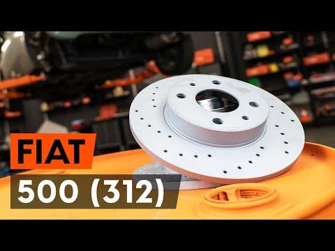 Как заменить задние тормозные диски наFIAT 500 ABARTH (312)[ВИДЕОУРОК AUTODOC]