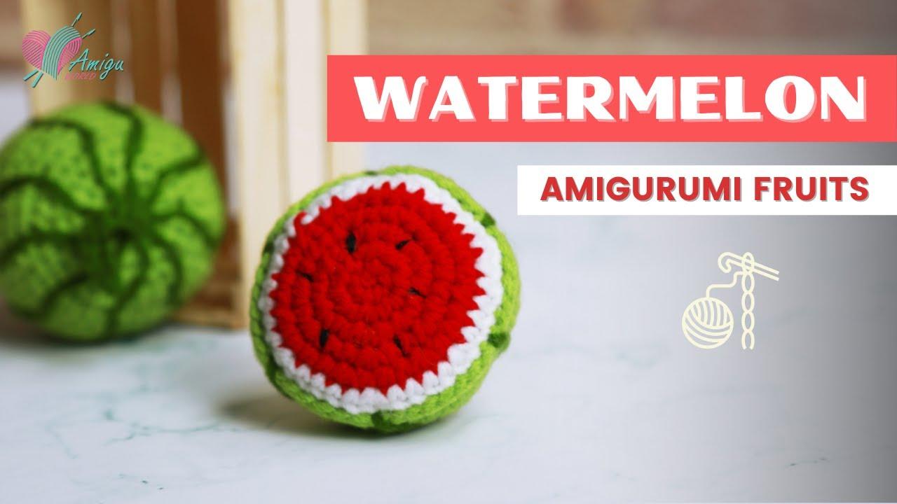 FREE Pattern – Crochet a  WATERMELON amigurumi free easy pattern tutorial for beginner