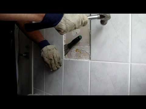 removing bathroom tiles